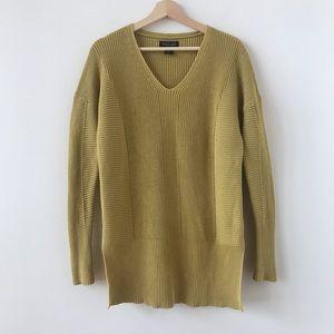 Rachel Zoe oversized mustard yellow sweater
